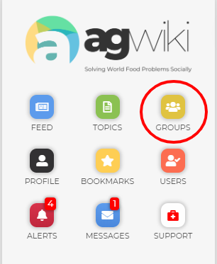 Groups icon on dashboard.